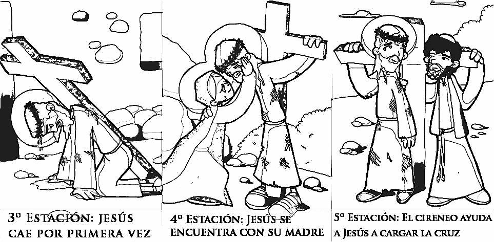 Atractivo Estaciones De La Cruz Para Colorear Para Niños Cresta ...