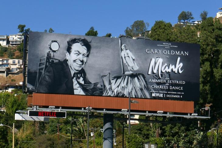 Gary Oldman Mank movie billboard