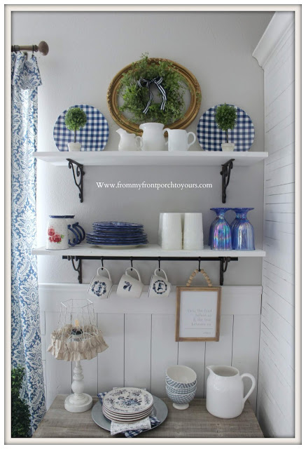 French -Farmhouse- Breakfast-Nook-Reveal-Blue & White-Decor-From My Front Porch To Yours