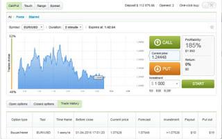 Пример торговой платформы бинарных опционов 1