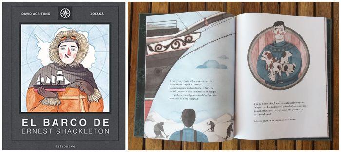 Libro infantil El barco de Ernest Shackleton