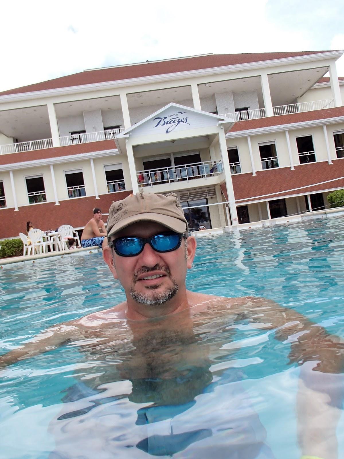 Ron in Breezes pool