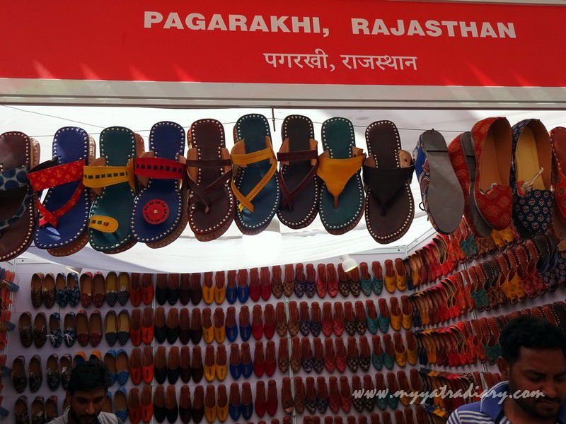 Mochris from Rajasthan - stalls at Visual arts, Kala Ghoda Arts Fest, Rampart Row, Fort.