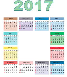2017 Base de Calendário EPS,AI,PSD,PDF e JPEG