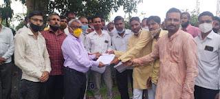 भारतीय किसान संघ तहसील शाजापुर के तत्वाधान में ज्ञापन सौपा गया