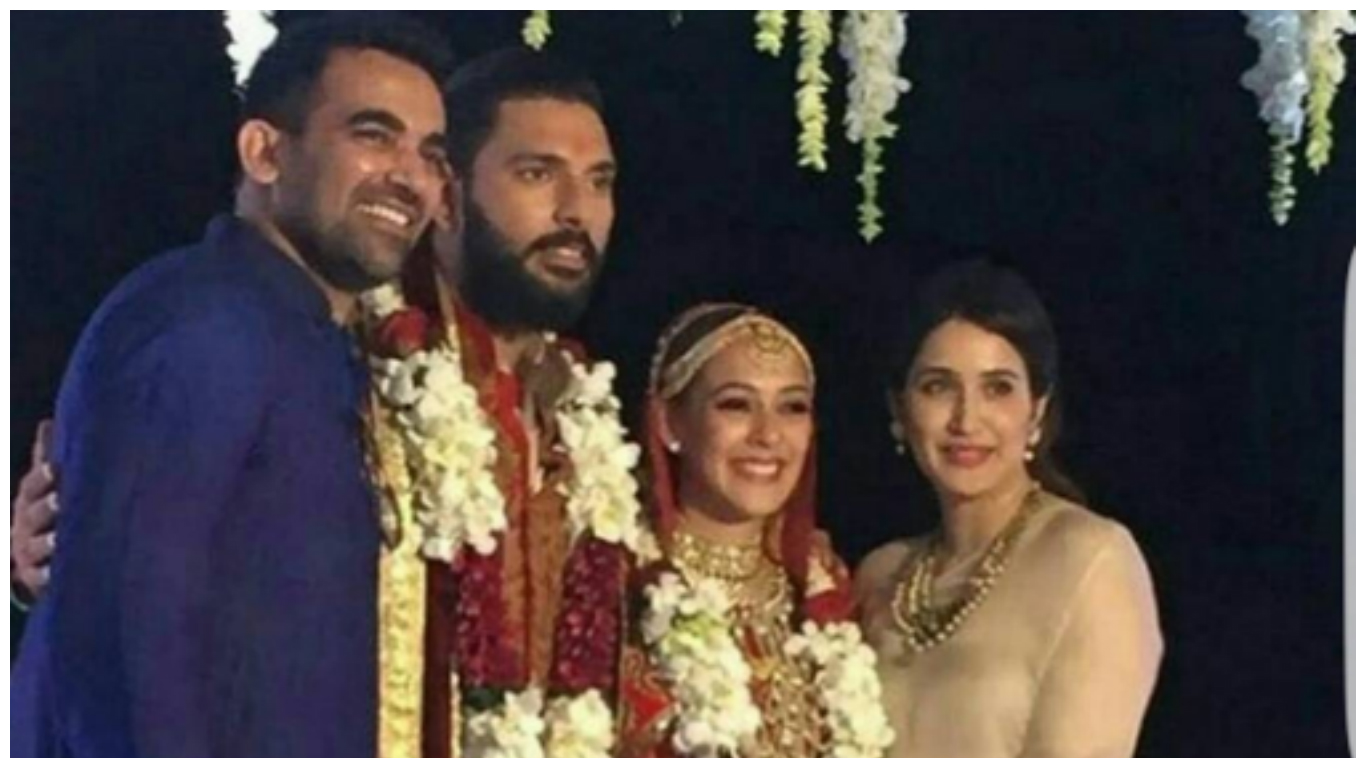 Cricket player zaheer khan marriage photos
