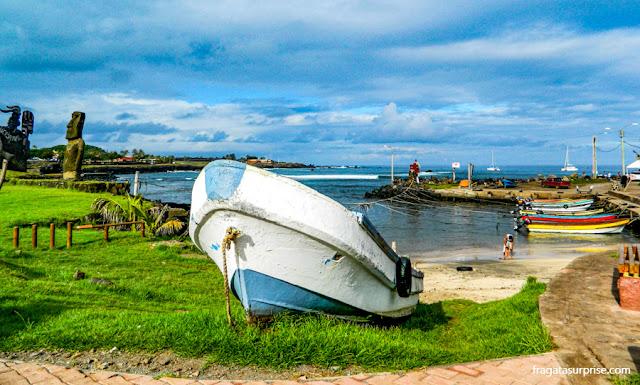 Caleta de los Pescadores, área de restaurantes em Hanga Roa, Ilha de Páscoa