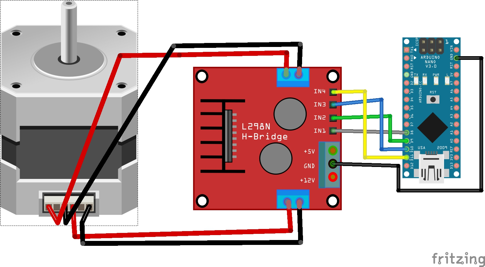 Arduino Nano How To Use Stepper Motors From Old Printers With L298n L298 H Bridge Circuit Diagram Include Stepperh