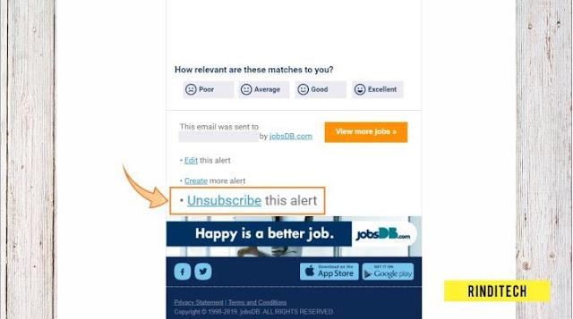 Cara Stop Menerima Email dari JobsDB