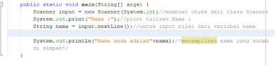 contoh simple Scanner