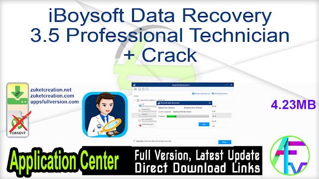 iBoysoft Data Recovery 3.5 Professional Technician + Crack