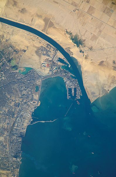 Suez Canal Top Down View