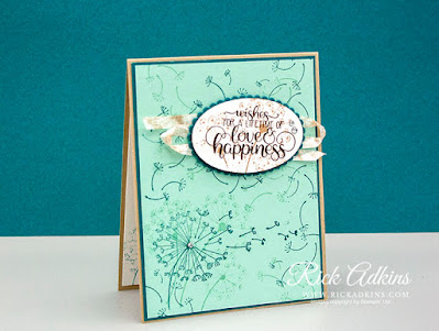 Dandelion Wishes Stamp Set, Cardstock:  Pool Party, Pretty Peacock, Crumb Cake Whisper White, Ink:  Crumb Cake, Pool Party, Pretty Peacock, Early Espresso, Rick Adkins