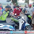 Jaring Aksi Bali, Satlantas Polres Gowa Amankan Ratusan Kendaraan Sepeda Motor
