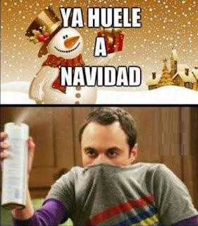 Huele a Navidad y Sheldon echa ambientador