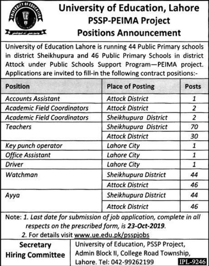 teaching jobs 2019