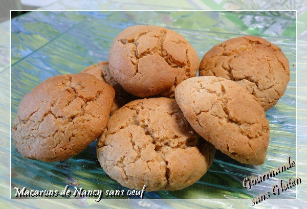 Macarons de Nancy sans oeuf