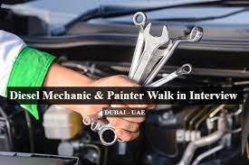 Diesel Mechanic Job Recruitment in Automobile Company Dubai, UAE Location
