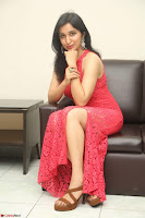 Sakshi Kakkar in Red Legsplit Sleeveless Gown at Dare movie Press meet ~  Exclusive 040.JPG