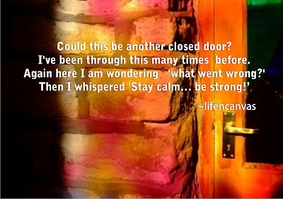 closed door poem
