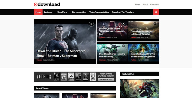 video downloader blogger template