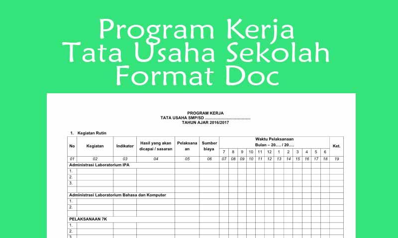 Program Kerja Tata Usaha Sekolah
