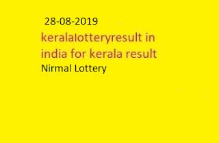 nirmal lottery sthree sakthi lottery results 28-08-2019