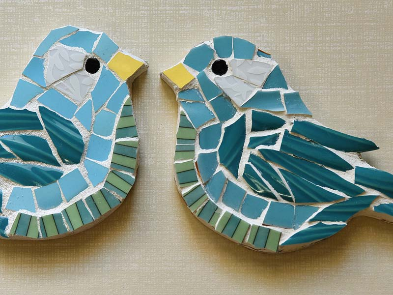 Detail of Mosaic birds by Jeanne Selep