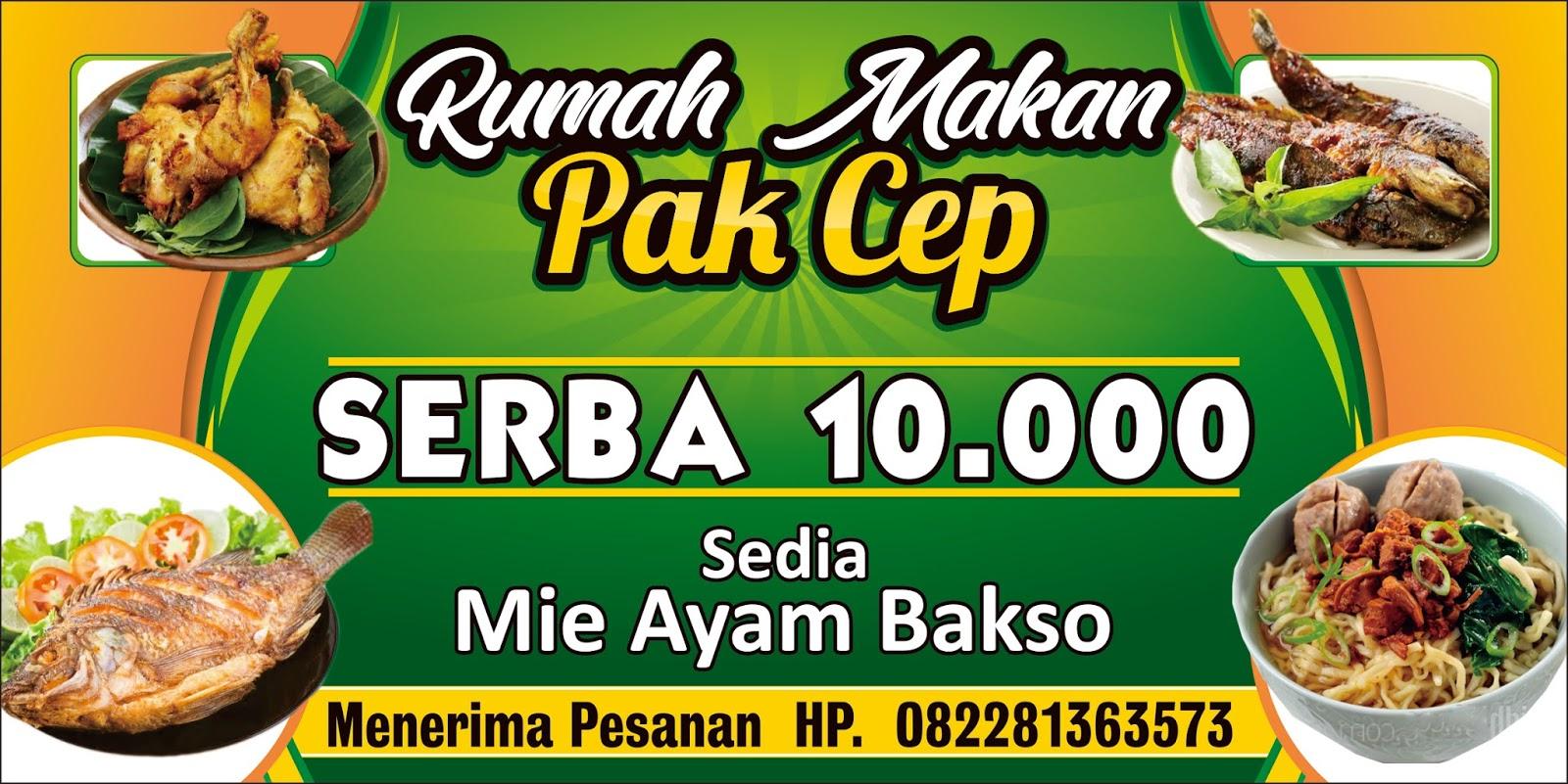 download design banner rumah makan cdr - Design_Spanduk