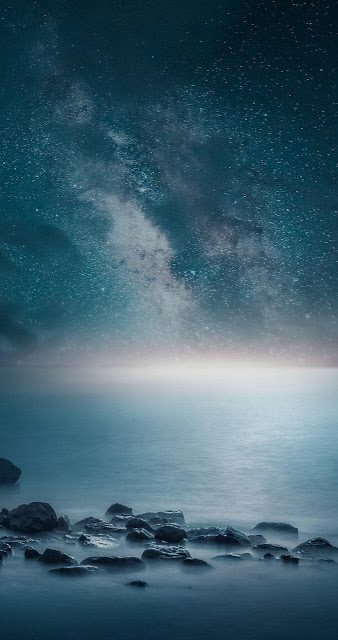 sfondo natura per cellulari android, cielo stellato