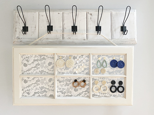 large hooks with hanging window for earrings
