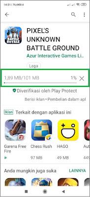 cara lancar download PUBG