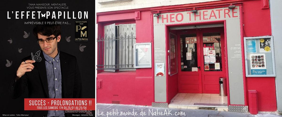 spectacle mentaliste L'effet Papillon Théo Théâtre Paris