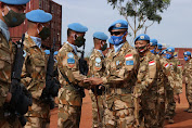Satgas Kizi TNI Raih Penghargaan Tertinggi Dari  PBB