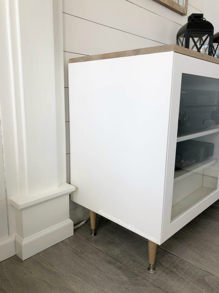 New extended side of cabinet
