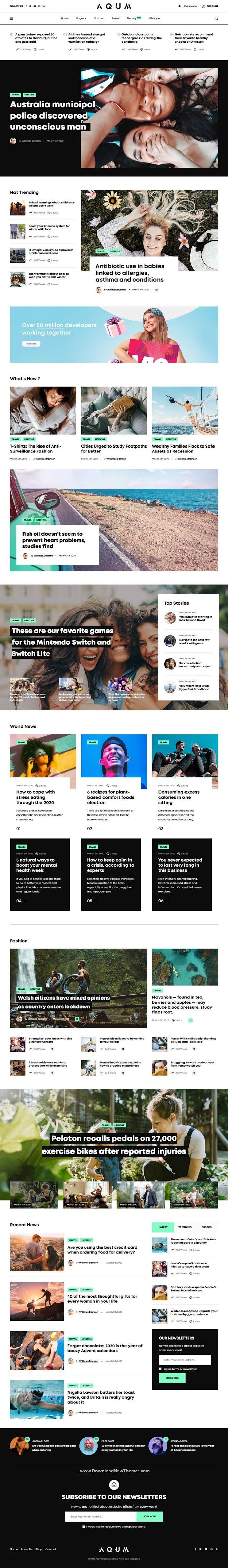 News and Magazine HTML Template