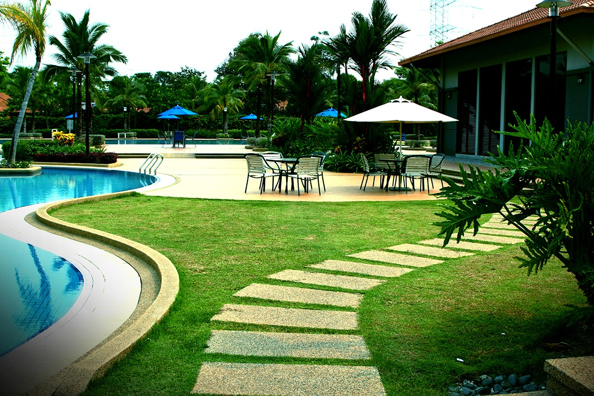 s-shape swimming pool