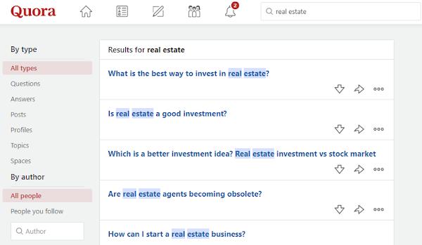 Quora Real Estate Forum