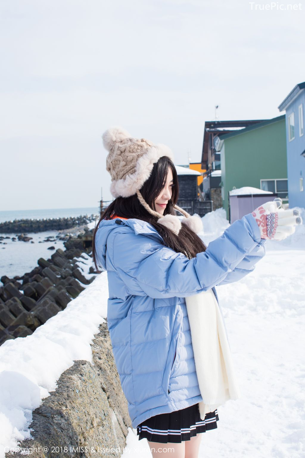 Image-IMISS-Vol.262-Sabrina model–Xu-Nuo-许诺-Sparkling-White-Snow-TruePic.net- Picture-8
