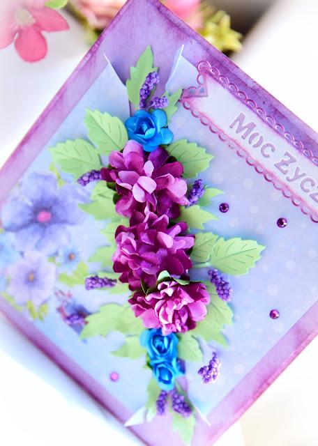Kartka urodzinowa ręcznie robiona, scrapbooking