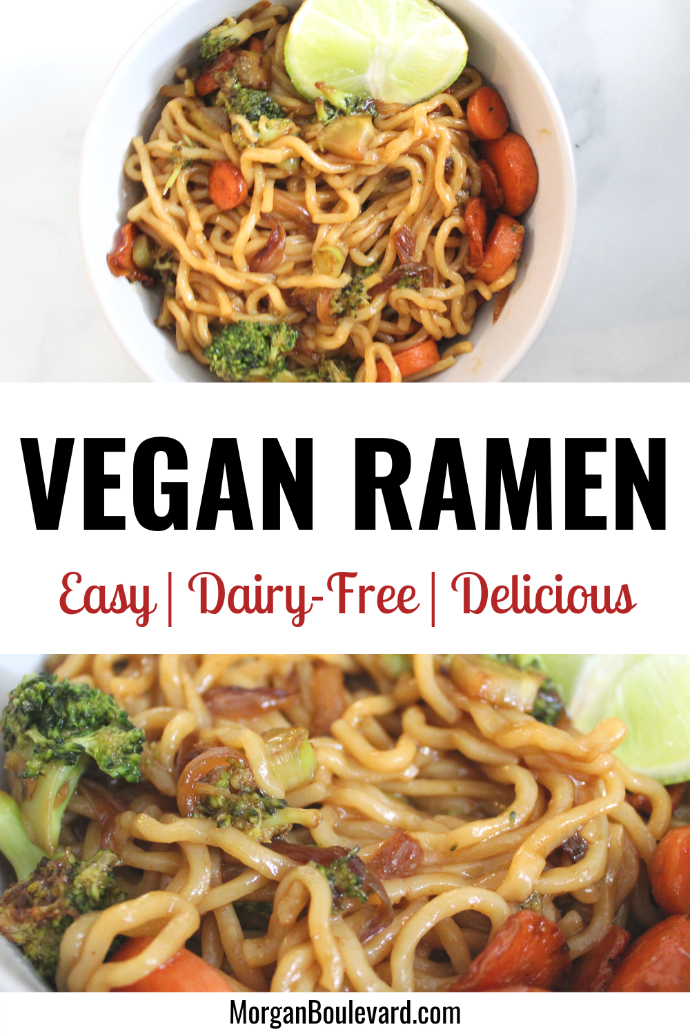 Vegan ramen noodle stir fry recipe