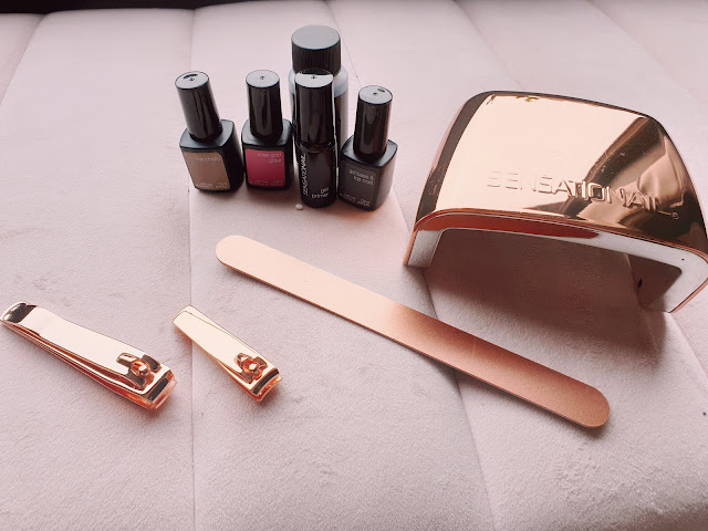 Sensationail Rose Gold Gel Nails Starter Kit