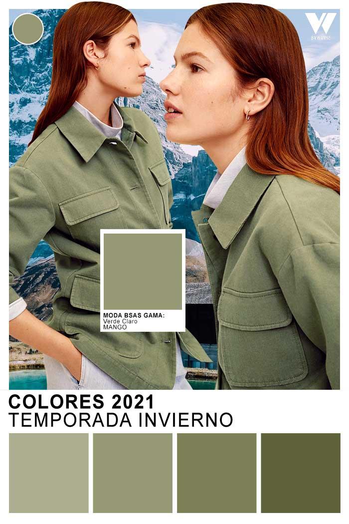 Verde claro colores de moda invierno 2021
