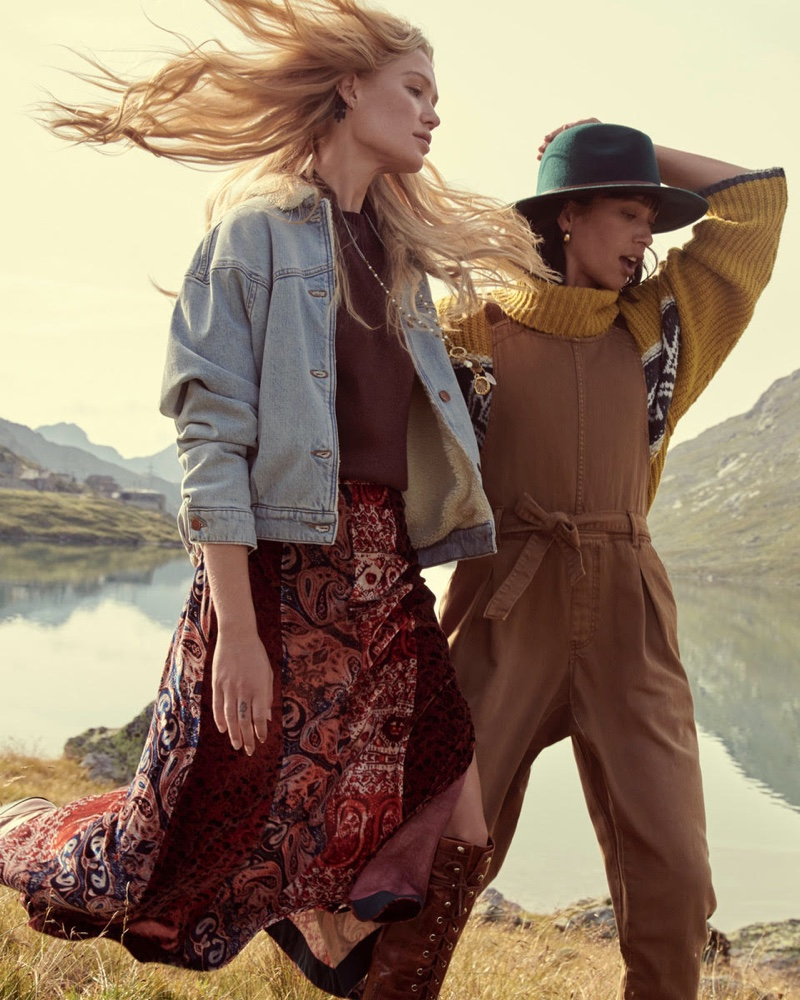 Camilla Christensen and Lydia Graham star in Free People holiday 2019 campaign