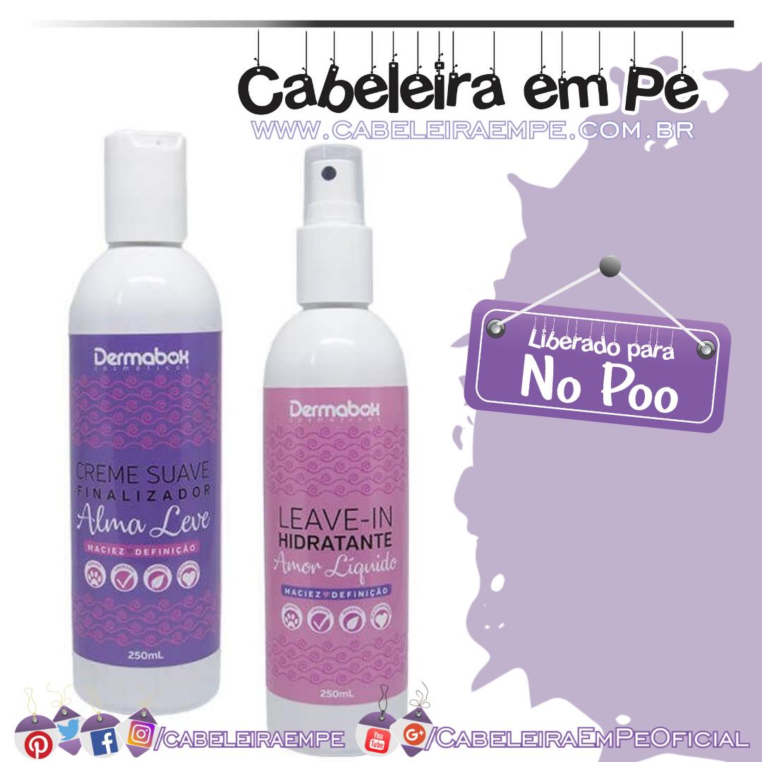 Leave in Hidratante Amor Líquido e Creme Suave Finalizador Alma Leve - Dermabox Cosméticos (No Poo)