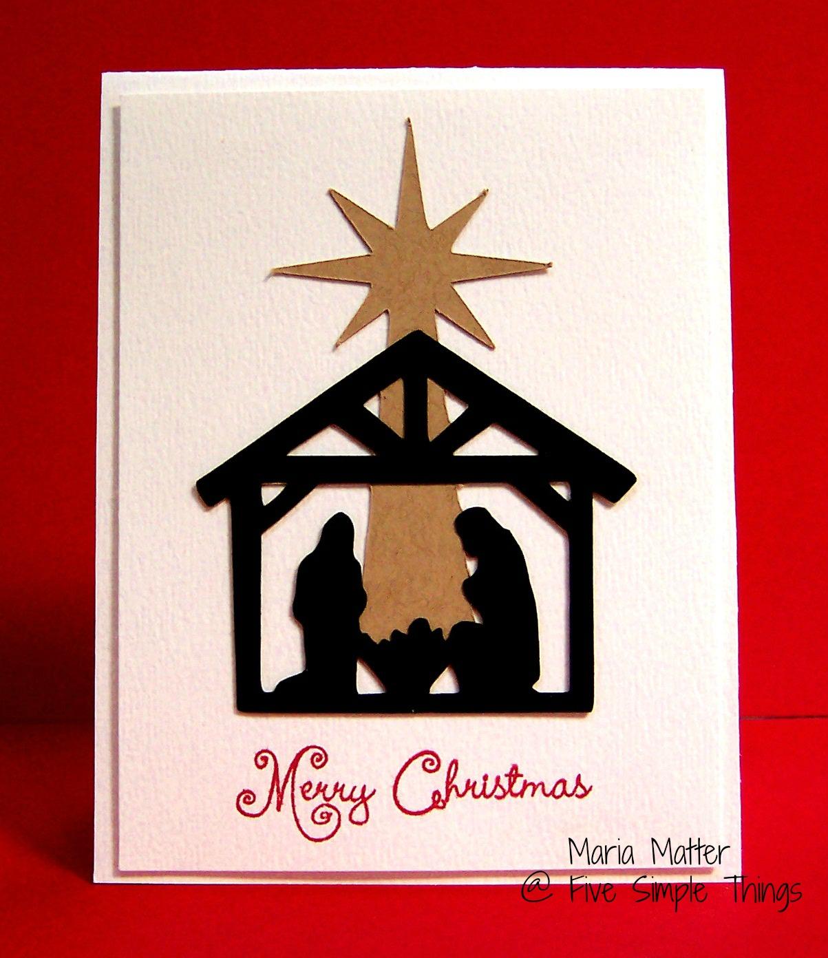 Five Simple Things: Christmas Cardmaking