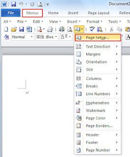Usability Menu Bar, Toolbar and Tool Box in Microsoft Publisher