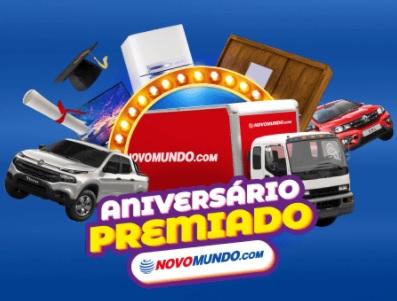 Cadastrar Promoção Aniversário Novo Mundo 65 Anos Premiado