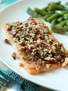 Dijon Pecan Baked Salmon