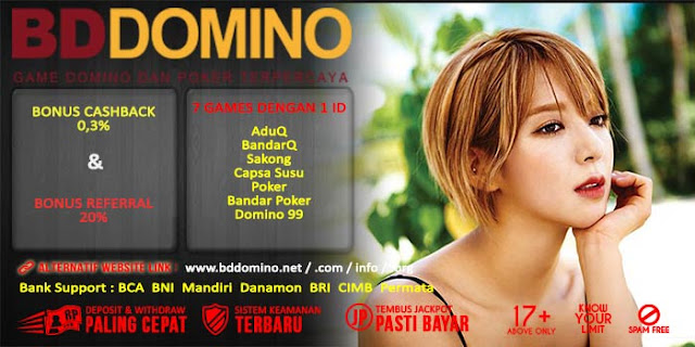 Bonus Cashback Judi Domino Online BdDomino